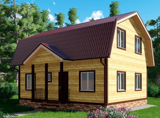 Проект дома из бруса 8 х 9 «Глазово»