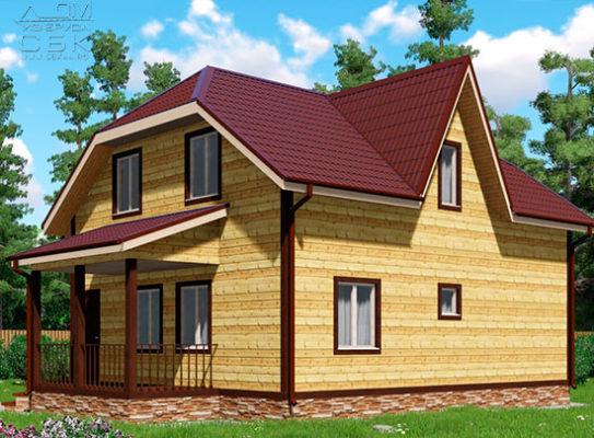 Проект дома из бруса 8 х 11 «Горшково»