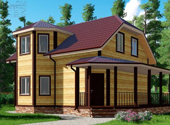 Проект дома из бруса 8,5 х 10 «Жуково»