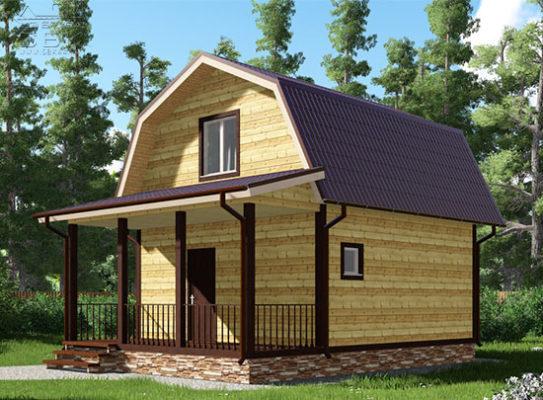 Проект дома из бруса 6 х 8 «Абрамцево»