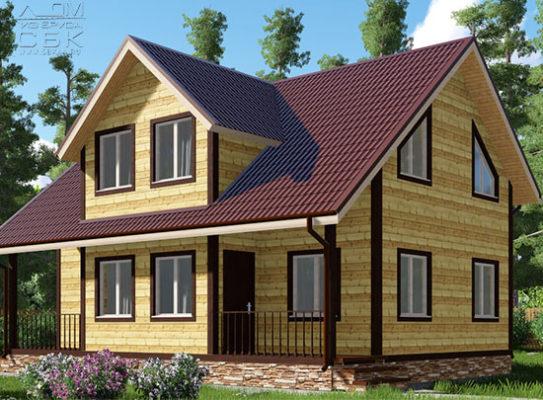 Проект дома из бруса 7,5 х 10 «Александрово»