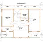 План проекта дома 7,5 х 10 Александрово
