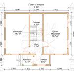 План проекта дома 7,5 х 9 Акулово