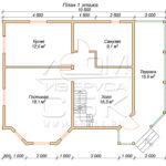 План проекта первого этажа дома 8,5 х 10 Жуково