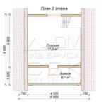 План проекта второго этажа дома 6 х 6 Княжево