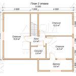 План проекта второго этажа дома 8 х 10,5 Глухово