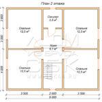 План проекта второго этажа дома 8 х 11 Горошково