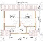 План проекта второго этажа дома из профилированного бруса 7 х 9 Ивашево