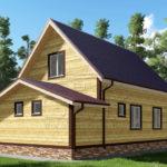 Проект дома из бруса 6 х 10 «Акишево»