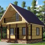 Проект дома из бруса 6 х 6 «Княжево»