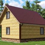 Проект дома из бруса 7 х 8 «Борисово»