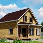Проект дома из бруса 10 х 7 с эркером «Чернопенье» - 1