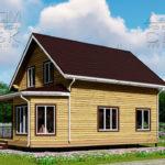 Проект дома из бруса 10 х 7 с эркером «Чернопенье» - 2