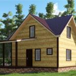 Проект дома из бруса 7 х 9 «Ивашево»