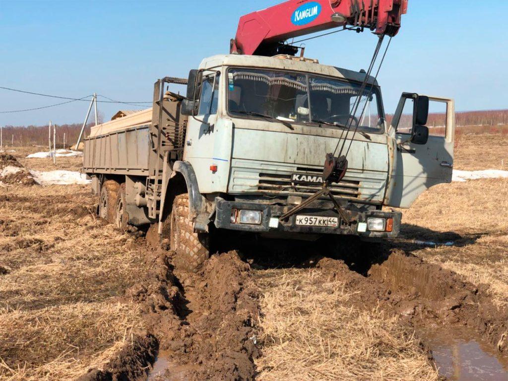 Один из минусов строить ранней весной - Дом 13,5 х 12 м в Экограде (г. Кострома)