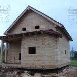 Фасад 6 - Дом из профилированного бруса 195х145 с эркером Чернопенье