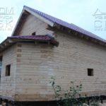 Фасад 5 - Дом из профилированного бруса 195х145 с эркером Чернопенье