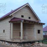 Фасад 2 - Дом из профилированного бруса 195х145 с эркером Чернопенье