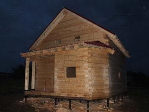Дом из профилированного бруса 195х145 с эркером Чернопенье - Фасад 1
