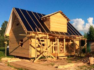 Дом из бруса 7 х 9 м с кукушкой «Град» – построен по программе жилья