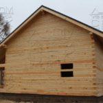 Дом из профилированного бруса 8 х 8,5 фасад 1