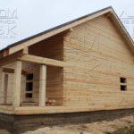 Дом из профилированного бруса 8 х 8,5 фасад перья под стропила