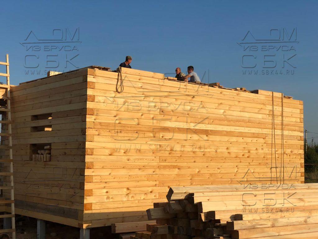 Строим дом 9 х 9 из профилированного бруса в городе Тутаев (2)