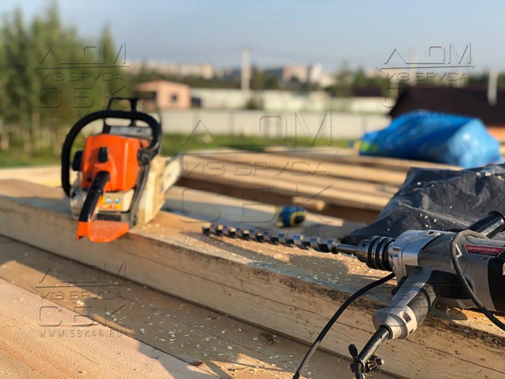 Строим дом 9 х 9 из профилированного бруса в городе Тутаев (4)