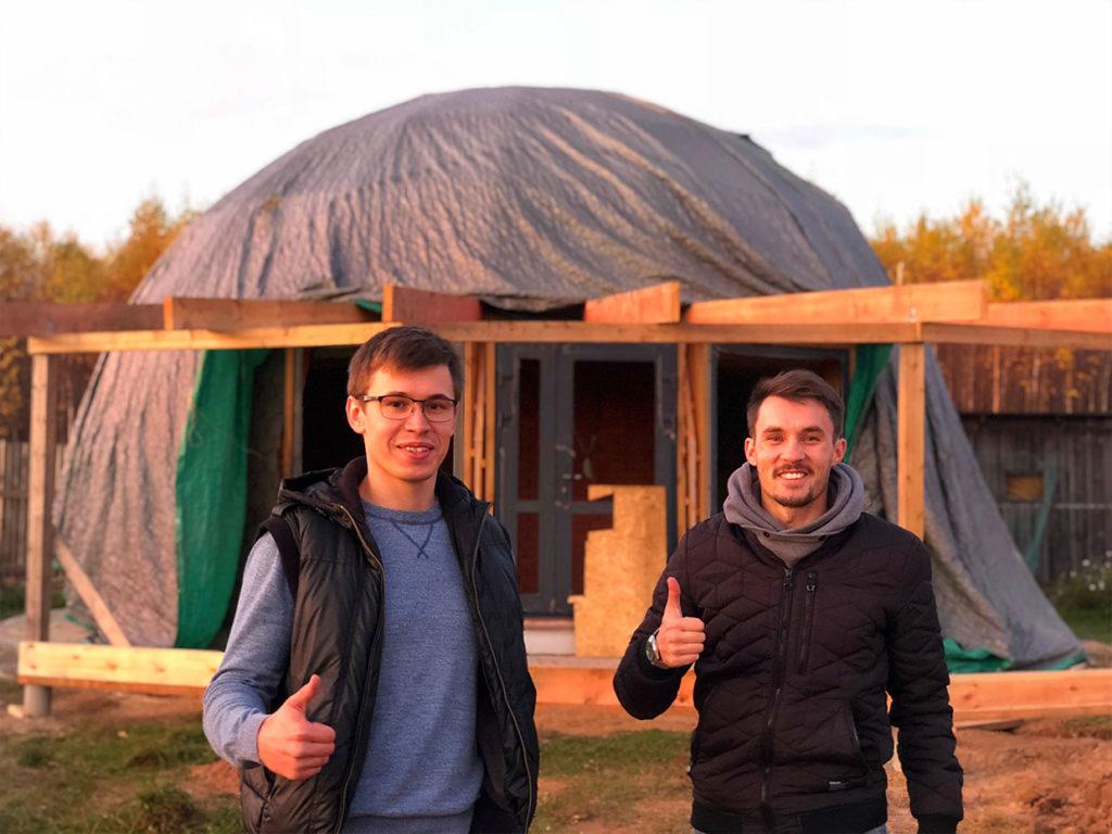 Благоустройство участка у купольного дома Добросфера z - 8 в Костроме (фото)