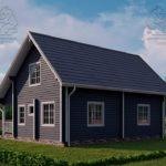 Проект дома из бруса в чашу 10 х 8 м «Романов» - на две семьи, для коттеджных поселков, для баз отдыха (2)