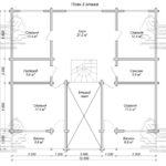 Проект дома из бруса в чашу 12 х 11,5 м «Семейный» - план 2-го этажа