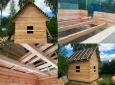 Недорогой дачный дом из бруса 4 на 4 (100х150)