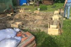 Столбчатый фундамент-под недорогой дачный-дом из бруса 4 на 4 - 3