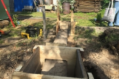 Столбчатый фундамент-под недорогой дачный-дом из бруса 4 на 4 - 4