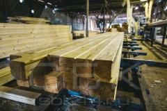 Производство профилированного бруса для строительства деревянного дома 3