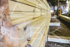 Производство профилированного бруса для строительства деревянного дома 1