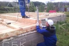 Русские бригады строительной компании Дом из бруса СБК 4