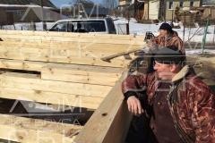 Русские бригады строительной компании Дом из бруса СБК 5