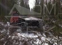 Заготовка костромского зимнего леса - треллевочник