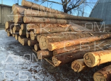 Заготовка костромского леса - штабеля зимнего леса на производстве