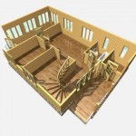 дом из бруса 12 на 8 разрез 1 этажа аксёново