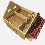 дом из бруса 12 на 8 разрез 2 этажа аксёново