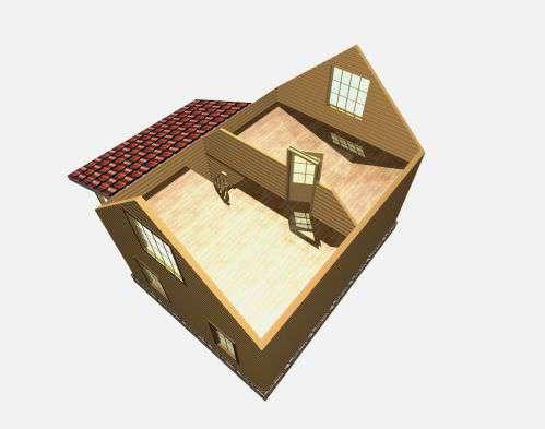 дом из бруса 6 на 8 разрез 2 этажа барское
