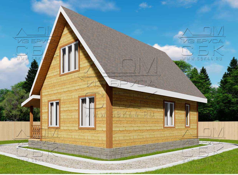 Дом из бруса 6 х 9 м «Сантори» - проект