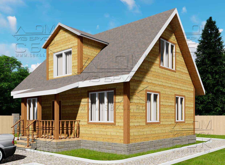 Дом из бруса 7 х 9 м «Град» - проект