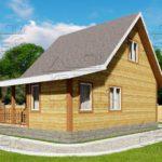 проект дома из бруса 6 х 8 м «Парковый»