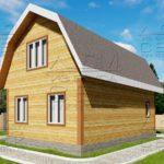 Проект дома из бруса 6 х 9 м «Бахарево» - фасад 3