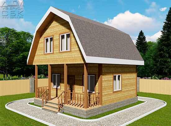 Проект дома из бруса 6 х 6 м «Марково»