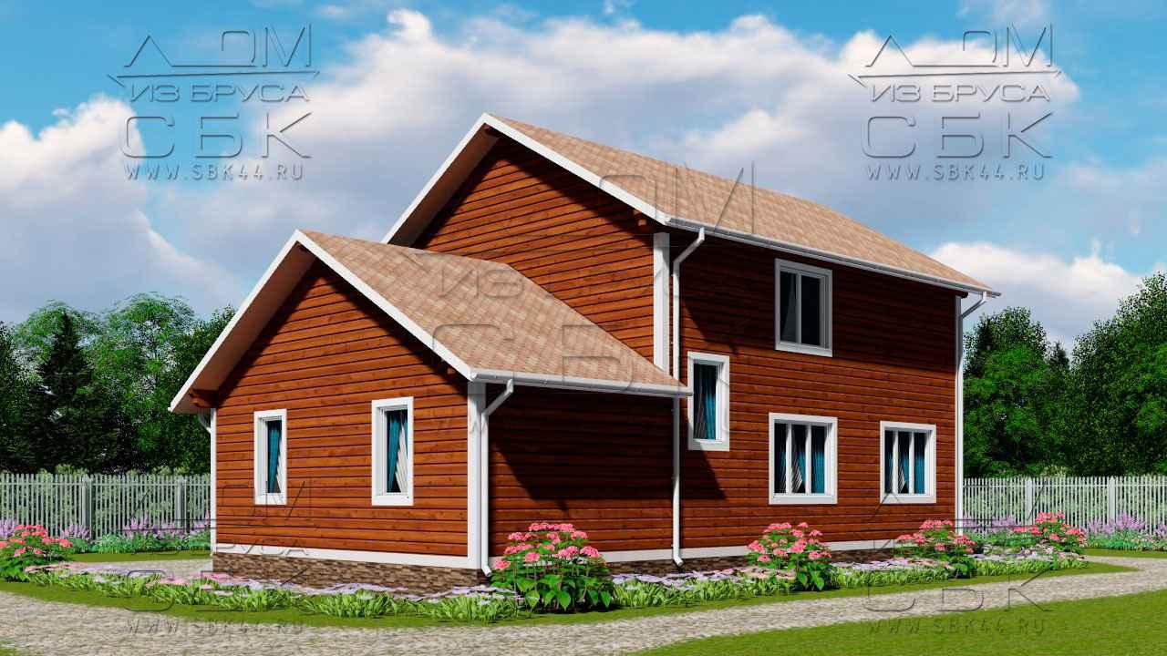 Проект дома из бруса 12 х 8,5 с гаражом «Терем» - 2