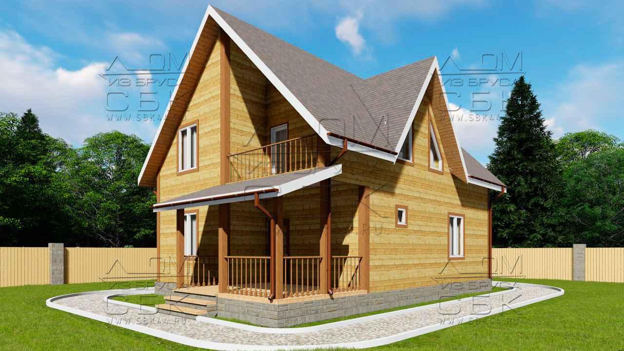 Дом из профилированного бруса 10 на 8 Ивановец 1